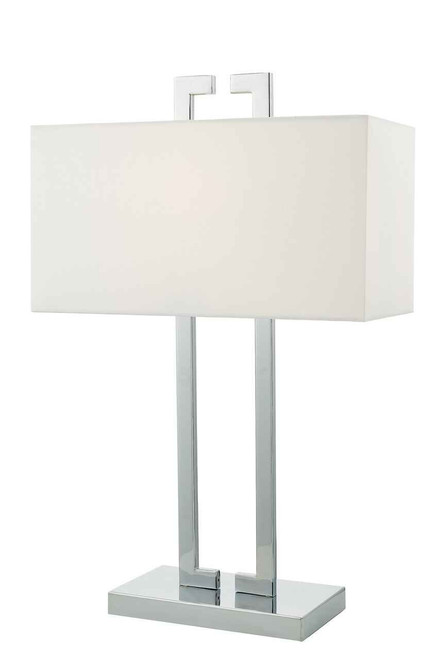 Nile Polished Chrome with Ivory Shade Table Lamp