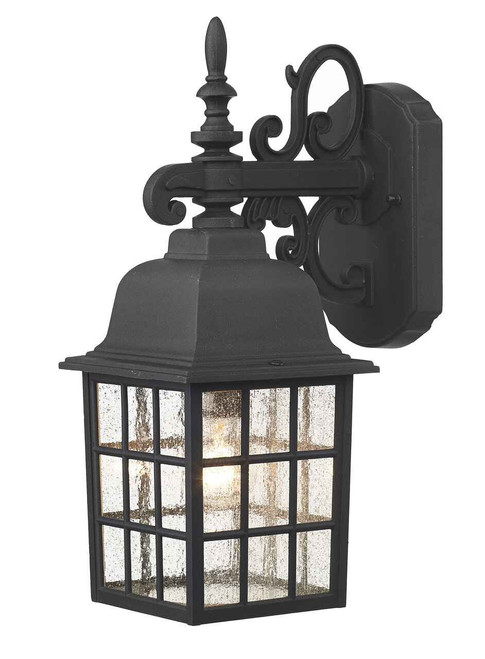 Norfolk Black Downlight Lantern Outdoor Wall Light