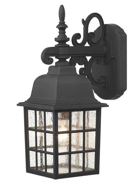 Norfolk Black Downlight Lantern Outdoor Wall Light
