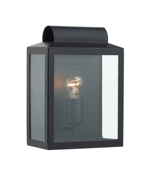 Notary Black Rectangle IP44 Outdoor Wall Light