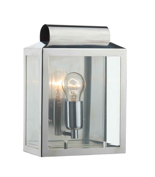 Notary Stainless Steel Rectangle IP44 Outdoor Wall Light
