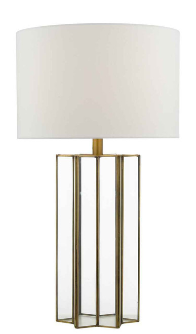Osuna Natural Metal Glass with Shade Table Lamp