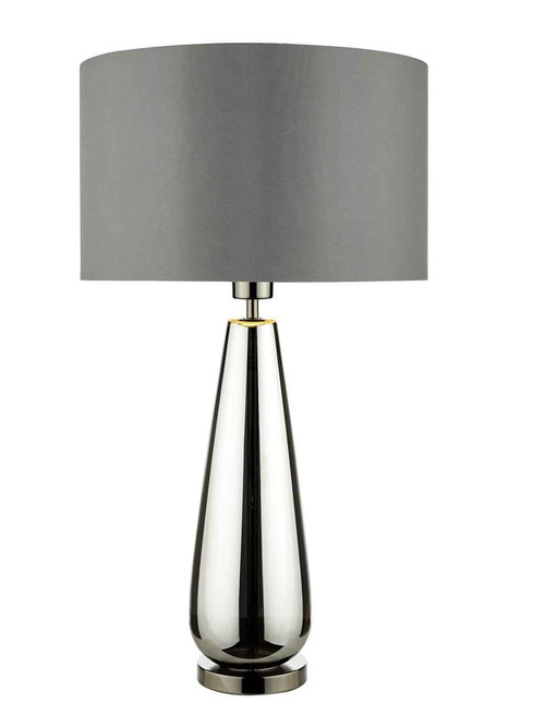 Pablo Black Chrome Base with Smoked Grey Shade Table Lamp