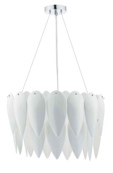 Phillipa 3 Light White Ceramic Pendant Light Chandelier