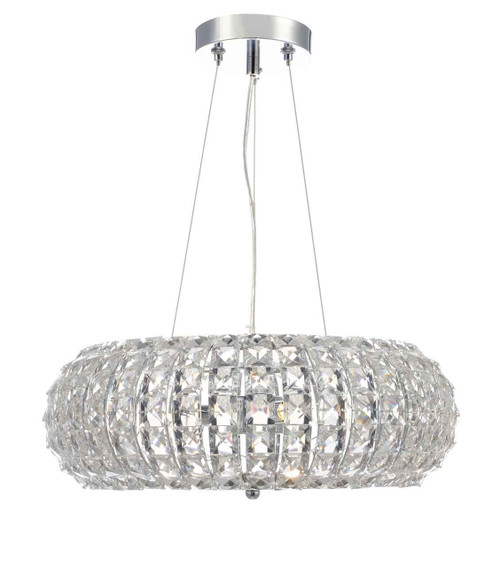 Piazza 3 Light with Faceted Crystal Beads Pendant Light