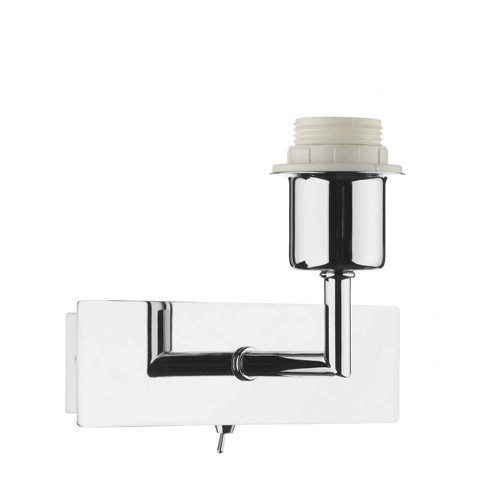 Piza Polished Chrome Wall Light Base Only with Switch