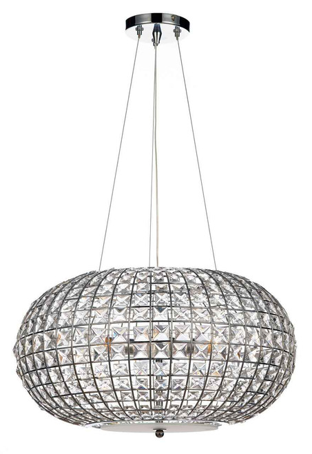 Plaza 3 Light Polished Chrome Pendant Light