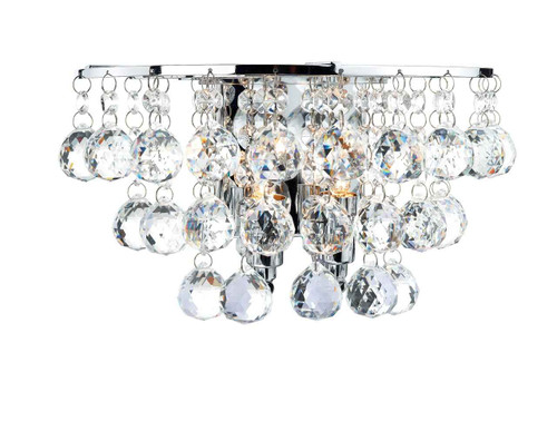 Pluto Polished Chrome Double Wall Light