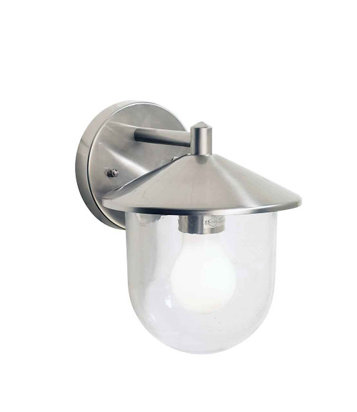 Poole Steel IP44 Outdoor Wall Light