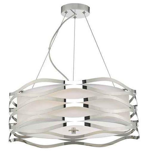 Mizella 3 Light Polished Chrome Pendant Light