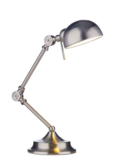 Ranger Satin Chrome Table Lamp Adjustable Task Light