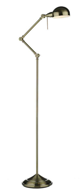 Ranger Antique Brass Floor Lamp Adjustable Reading Light
