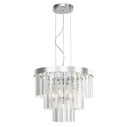 Lorant 7 Light 3 Tier Clear & Polished Chrome Pendant Light