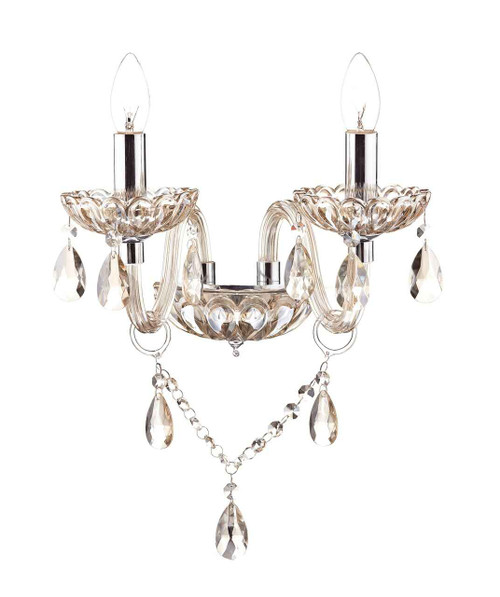 Raphael Champagne Crystal Glass Double Wall Light