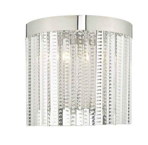Lorant 2 Light Clear & Polished Chrome Wall Light