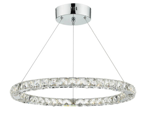 Roma Crystal with Chrome Dimmable LED Pendant Light