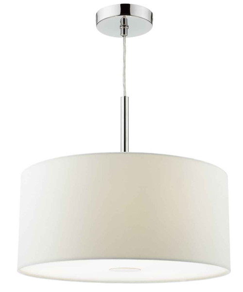 Ronda 3 Light 40cm White Shade with Diffuser Pendant Light