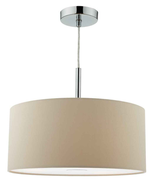 Ronda 3 Light 40cm Ecru Shade with Diffuser Pendant Light