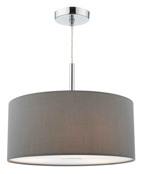 Ronda 3 light 40cm Slate Grey Shade with Diffuser Pendant Light