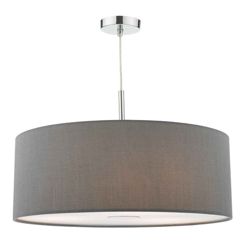 Ronda 3 Light 60cm Slate Grey Shade with Diffuser Pendant Light