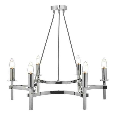 Nacala 6 Light Polished Chrome Pendant Light