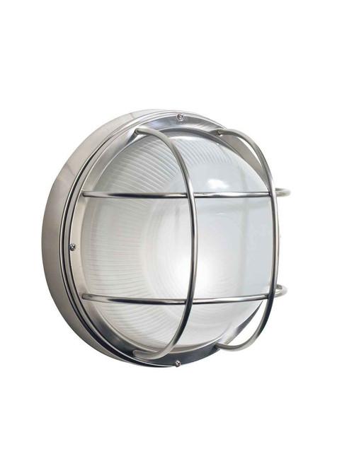 Salcombe Large Round Steel IP44 Outdoor Wall Light