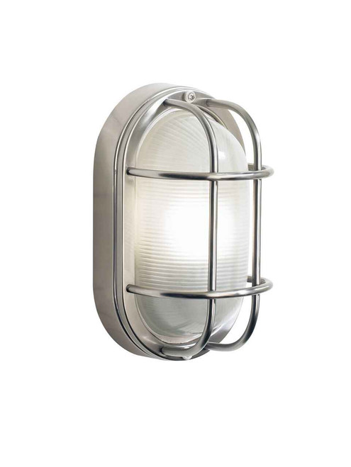 Salcombe Small Oval Steel IP44 Outdoor Wall Light