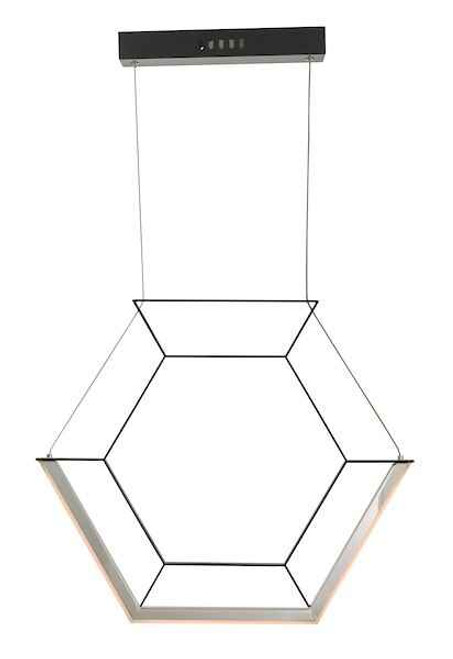 Hexagon Black LED Pendant Light