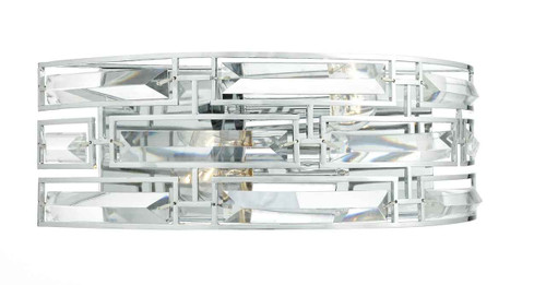 Seville 2 Light Crystal and Polished Chrome Frame Wall Light