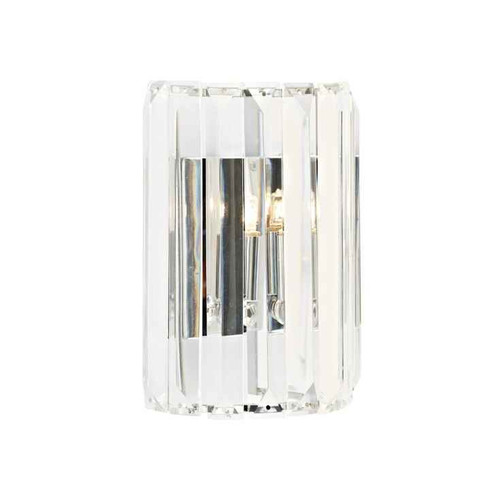 Sketch 1 Light Crystal Polished Chrome Wall Light