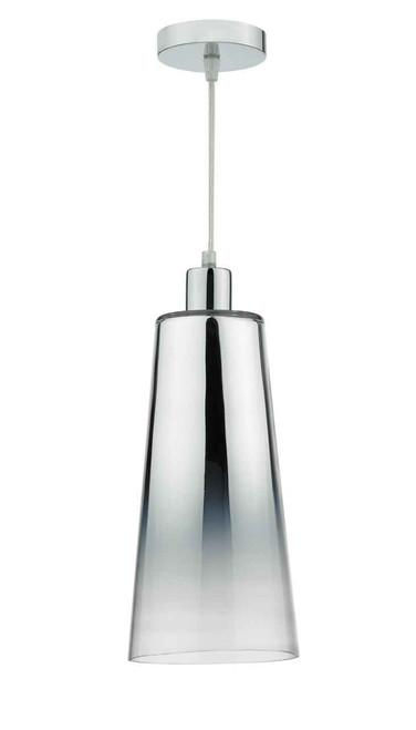 Smokey Graduated Chromed Glass Easy Fit Pendant Light