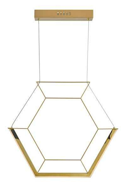 Hexagon Gold LED Pendant Light