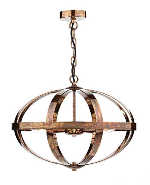 Symbol 3 Light Petrol Copper Feature Pendant Light