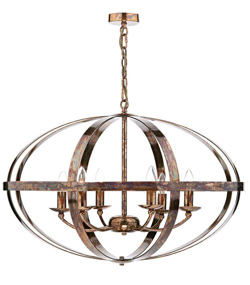 Symbol 6 Light Petrol Copper Feature Pendant Light