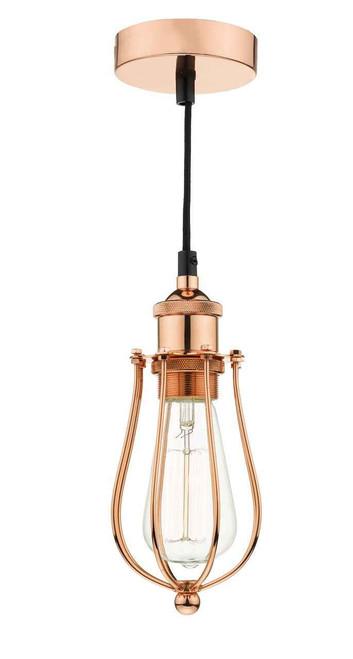 Taurus Bright Copper Cage Pendant Light