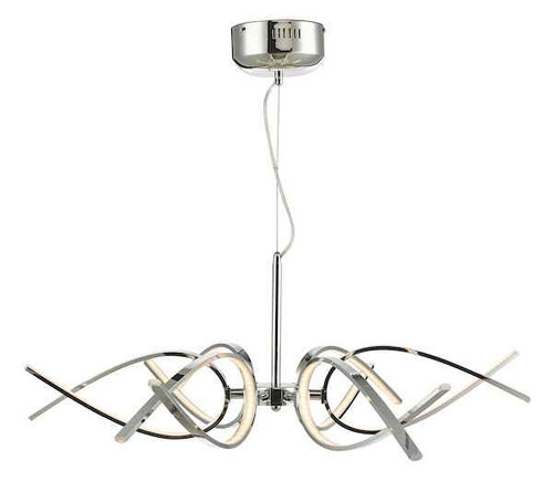 Tetra 6 Light Polished Chrome LED Pendant Light