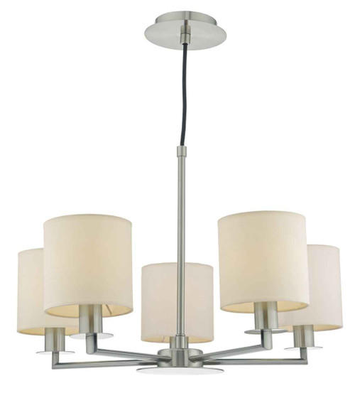 Tyler 5 Light Satin Nickel Pendant Light