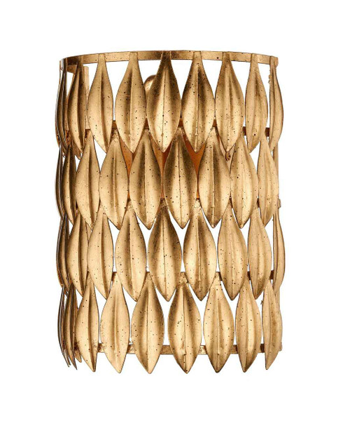 Volcano 1 Light Hand Crafted Gold Leaf Wall Light