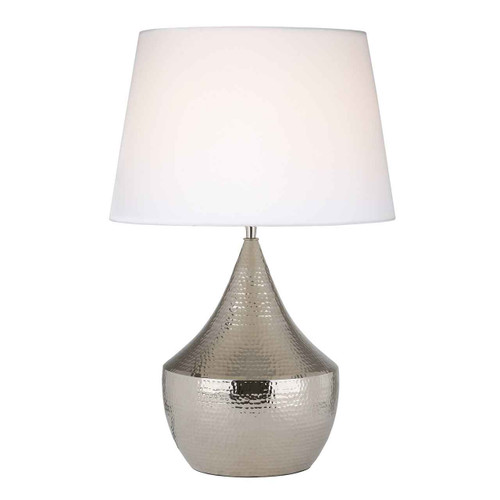 Vorana Polished Nickel Hammered Finish Table Lamp Base Only