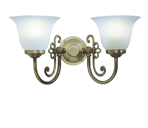Woodstock  Antique with Glass Double Wall Light