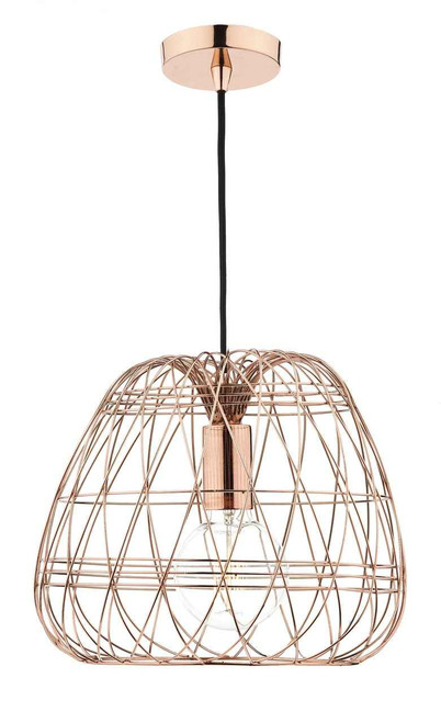 Woven Copper Pendant Light