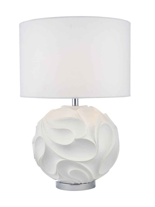 Zachary White Round with ShadeTable Lamp