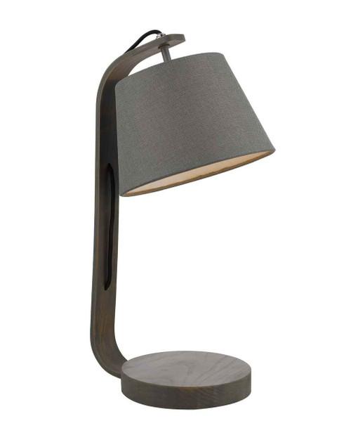 Zakara Grey Washed Wood with Grey Shade Table Lamp