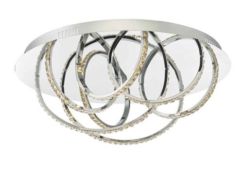 Zancara 7lt Polished Chrome and Crystal LED Flush Ceiling Light