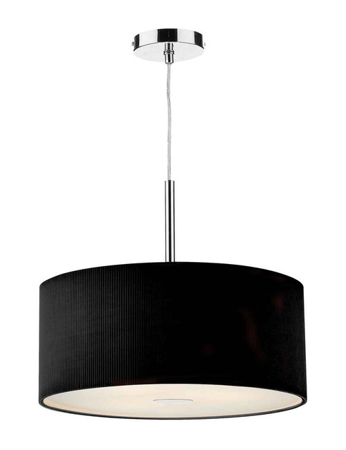 Zaragoza 3 Light Black 600MM Pendant Light