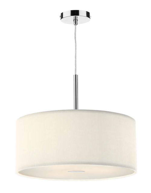 Zaragoza 3 Light Cream 600MM Pendant Light