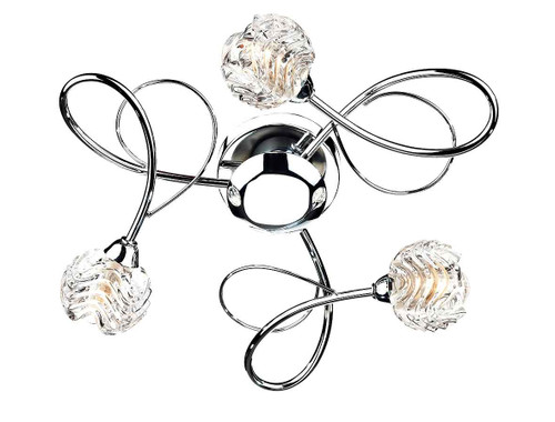 Zelda 3 Light Polished Chrome Flush Ceiling Light