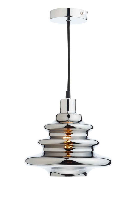 Zephyr Chrome Electro Plated Glass Easy Fit Pendant Light