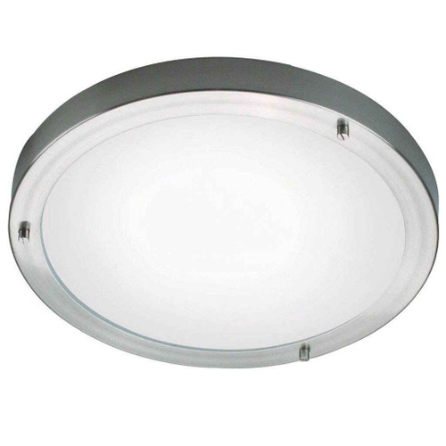 Ancona Maxi Brushed Steel with Opal White Ceiling Light