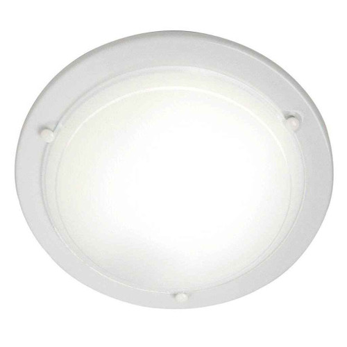Spinner White with Opal White Glass Ceiling Light